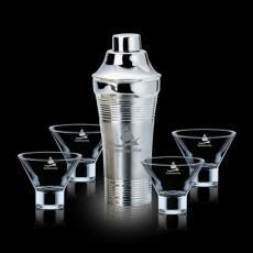 Executive Gifts - Rockport Shaker & 4 Palmer Martini