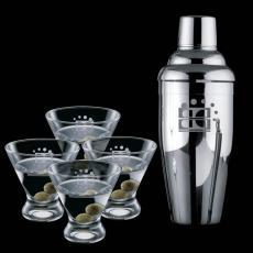 Executive Gifts - Connoisseur Shaker & 4 Brisbane Martini