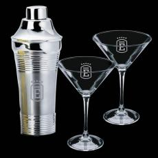 Executive Gifts - Rockport Shaker & 2 Connoisseur Martini