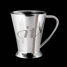 Executive Gifts - Lansing Footed Mug - Stainless Steel