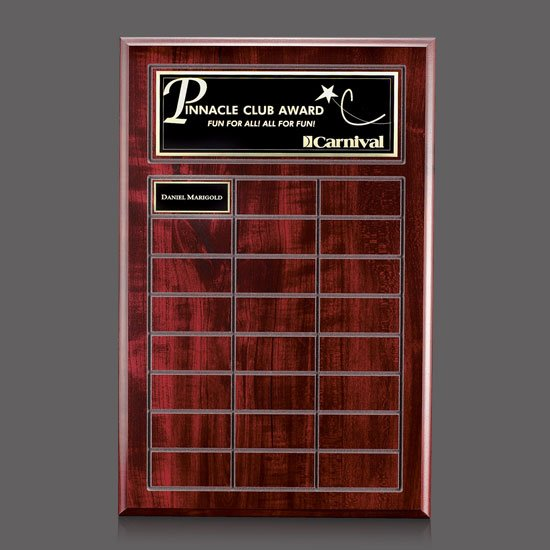 Antwerp Perpetual Plaque - Cherry Finish with Plates