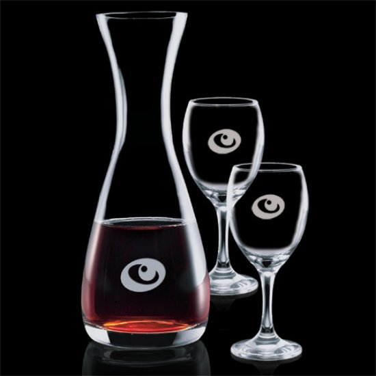 Bishop Carafe & Choice of Wine Glasses