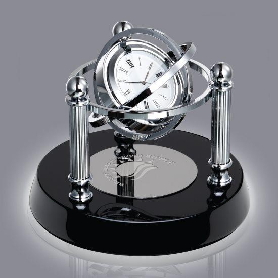 Blanchard Clock - Black/Chrome
