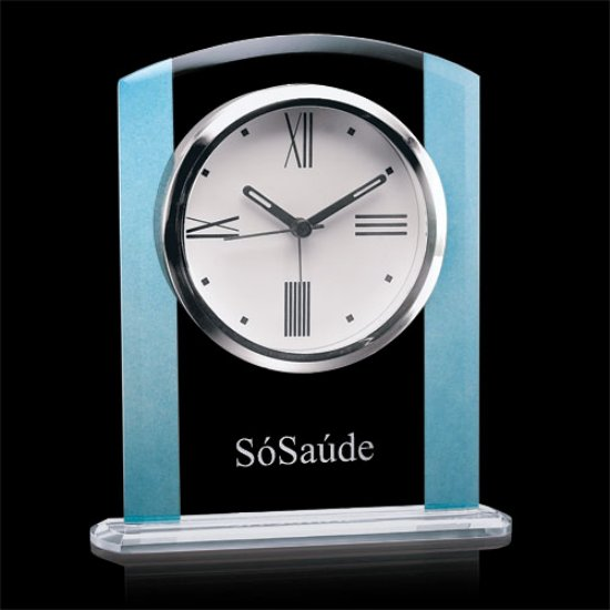 Broadland Clock - Clear/Blue