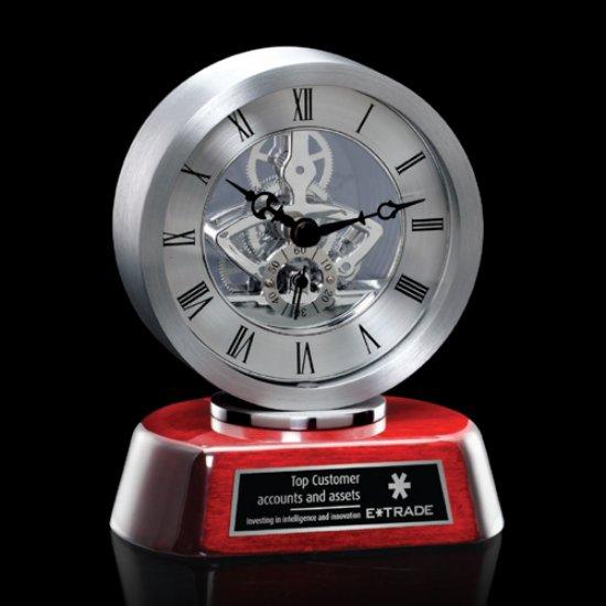 Conchita Clock - Silver/Rosewood