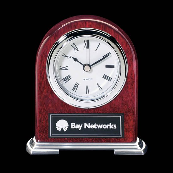 Birmingham Clock - Rosewood/Chrome