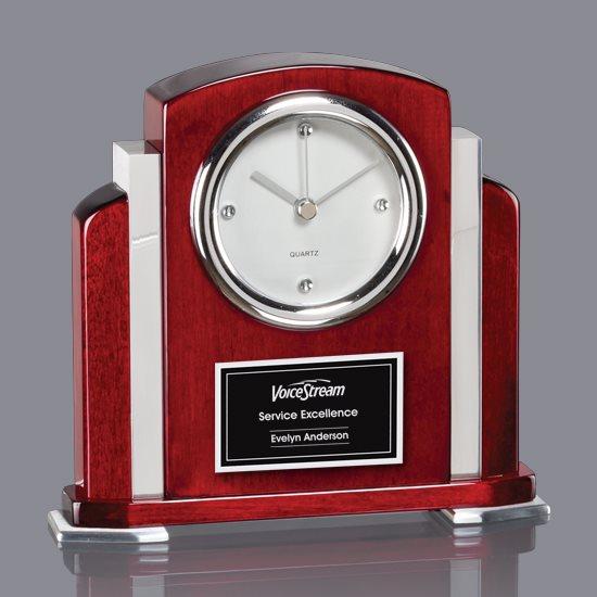 Alma Clock - Rosewood/Aluminum