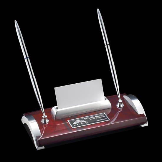 Bentley Pen/Cardholder - Rosewood/Chrome