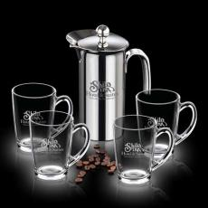 Executive Gifts - French Coffee Press & Mugs