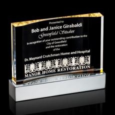 Acrylic Awards Plaques - Cornerstone Award