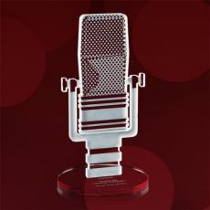 Custom Corporate Acrylic Awards - Microphone Award