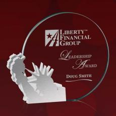 Custom Corporate Acrylic Awards - Clement Statue of Liberty
