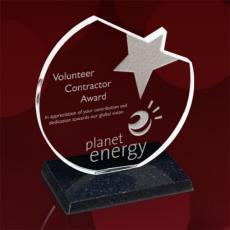 Custom Corporate Acrylic Awards - Triton Star Award