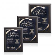 Customizable Plaque Awards - Farnsworth/Birchcliff - Black/Black