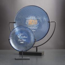 Art Glass Awards & Trophies - Spinoza Award - Cobalt