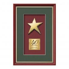 Framed Awards & Plaques - Baron Rising Star - Mahogany/Gold
