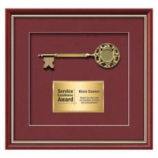 Framed Awards & Plaques - Baron Key - Mahogany/Gold