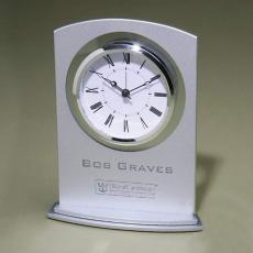 Personalized Corporate Gifts - Silver Arc clock