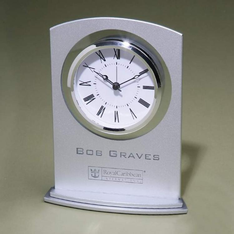 Silver Arc clock