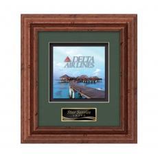 Customizable Plaque Awards - Terrene -  Dark Walnut
