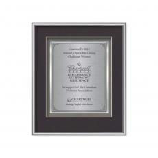 Framed Awards & Plaques - Fenestra Certificate TexEtch Vert - Silver