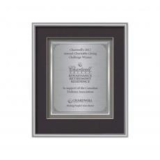 Customizable Plaque Awards - Fenestra Certificate TexEtch Vert - Silver