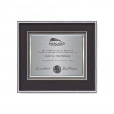Customizable Plaque Awards - Fenestra Certificate TexEtch Horiz - Silver