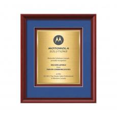 Framed Awards & Plaques - Raven Certificate TexEtch Vert - Mahogany