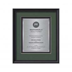 Framed Awards & Plaques - Raven Certificate TexEtch Vert - Black