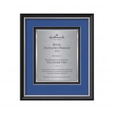 Framed Awards & Plaques - Baron Certificate TexEtch Vert - Black/Silver