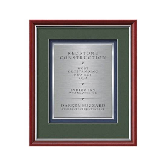 Baron Certificate TexEtch Vert - Mahogany/Silver