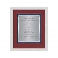 Customizable Plaque Awards - Primrose Certificate TexEtch Vert - White