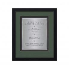 Framed Awards & Plaques - Primrose Certificate TexEtch Vert - Black