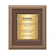 Customizable Plaque Awards - Romagna Certificate TexEtch Vert - Silver