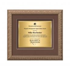 Customizable Plaque Awards - Romagna Certificate TexEtch Horiz - Silver