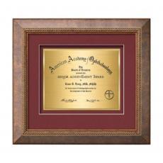 Framed Awards & Plaques - Lazio Certificate TexEtch Horiz - Bronze/Copper