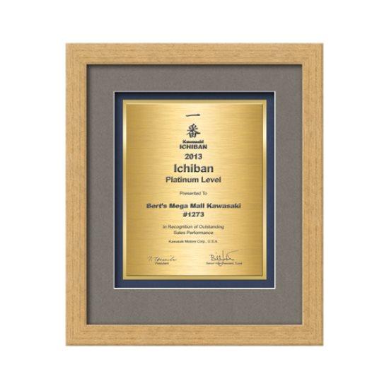 Eldridge Certificate Brass/Alum Vert - Antique Gold