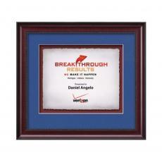 Framed Awards & Plaques - Caprera -  Mahogany