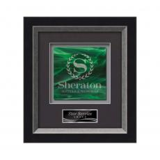 Framed Awards & Plaques - Omni -  Black/Silver
