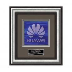 Customizable Plaque Awards - Grazia -  Black/Silver