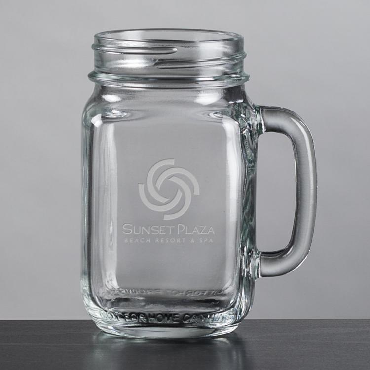 Roswell Drinking Jar - Deep Etch 16oz