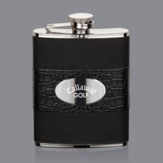 Flasks - Gaetana Hip Flask -  Stainless Plate