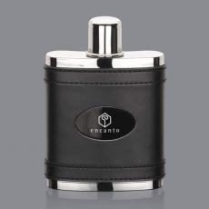 Flasks - Melrose Hip Flask -  Black/Black Nickel Plate