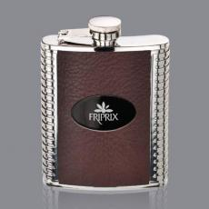 Flasks - Trubner Hip Flask -  Brown/Black Nickel Plate