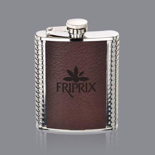 Trubner Hip Flask - Brown
