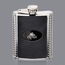 Flasks - Trubner Hip Flask -  Black/Black Nickel Plate