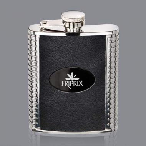 Trubner Hip Flask -  Black/Black Nickel Plate