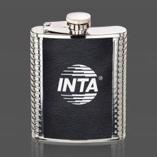 Flasks - Trubner Hip Flask - Black