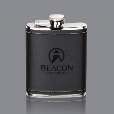 Shelburne Hip Flask - Black