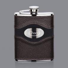 Flasks - Colchester Hip Flask -  Stainless Plate